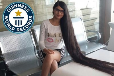Watch Teenager S Long Hair Sets Guinness World Record Upi Com