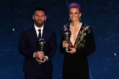 Megan Rapinoe, Lionel Messi win FIFA 'The Best' awards