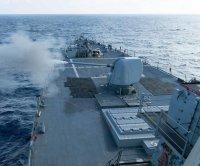 USS Curtis Wilbur transits Taiwan Strait