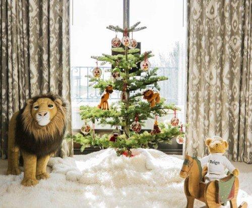Kourtney Kardashian shows off her six Christmas trees