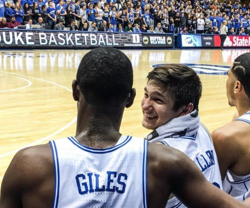 Watch: Duke's Grayson Allen got away with another trip this weekend
