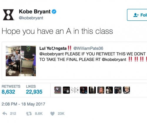 Kobe Bryant, Aaron Rodgers get kids out of exams