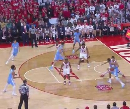 No. 10 North Carolina blows by N.C. State