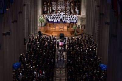 Obama, Bush, Meghan McCain reflect on life of John McCain at D.C. service