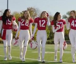 Adriana Lima and the Victoria's Secret Angels score a touchdown in Super Bowl ad