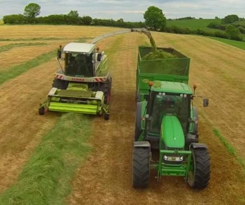 Irish farmer's camera drone collides with silage harvester
