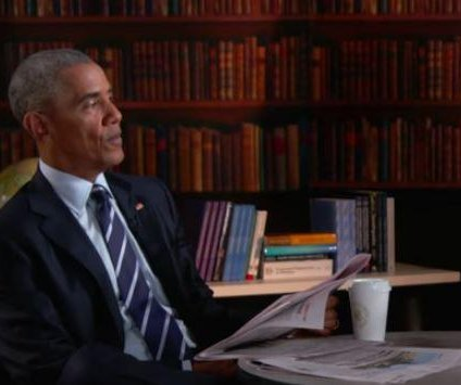 Stephen Colbert helps President Obama with his resume