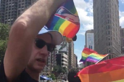NBA commissioner Adam Silver celebrates at gay pride parade