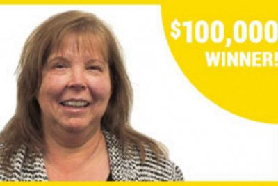 Surprise birthday party leads to $100,000 lottery win
