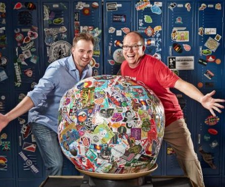 World's largest sticker ball entered into the Guinness World Records book