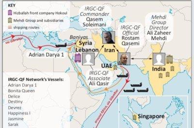 White House slaps sanctions on Iranian shipping network