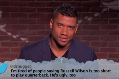 Russell Wilson, Rob Gronkowski read Mean Tweets on 'Jimmy Kimmel'