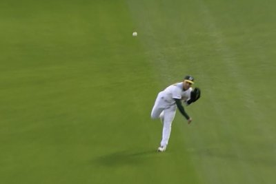 Athletics' Ramon Laureano throws Xander Bogaerts out at home with 96-mph cannon