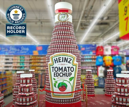 UAE store breaks Guinness record with 11-foot-tall ketchup tower