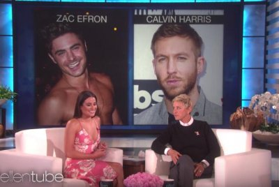 Lea Michele chooses between Michael B. Jordan, Calvin Harris and Zac Efron on 'Ellen'