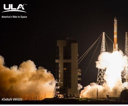Delta IV rocket launches military communications satellite