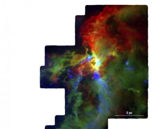Astronomers produce detailed maps of star-forming region in Orion A