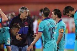 La Liga slip leads to rift between Barcelona players, manager Setien