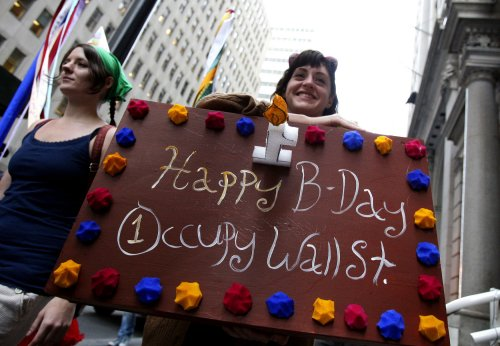 Occupy Wall Street marks first anniversary