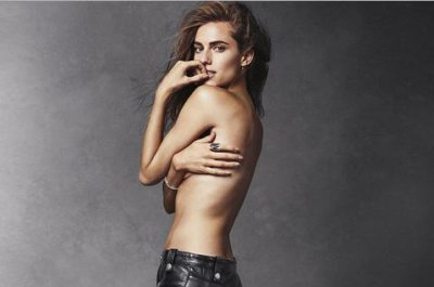 Allison Williams goes topless for Harper's Bazaar