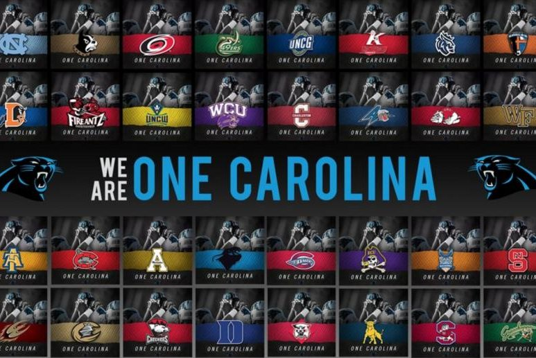 8fde35f8 Carolina Panthers: #OneCarolina hashtag brings two states together ...