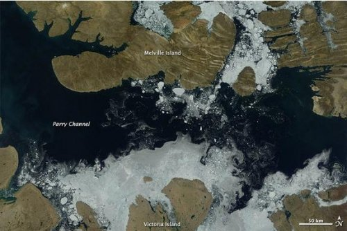 Melting ice opens Northwest Passage