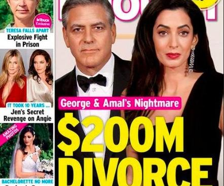 George and Amal Clooney's rep slams '$200 million divorce' story