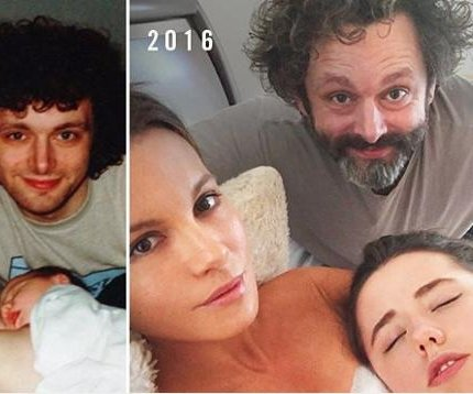 Kate Beckinsale, Michael Sheen recreate family photo
