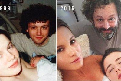Kate Beckinsale, Michael Sheen recreate family photo