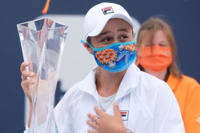 Ash Barty caps 44-hour commute with Miami Open tennis title