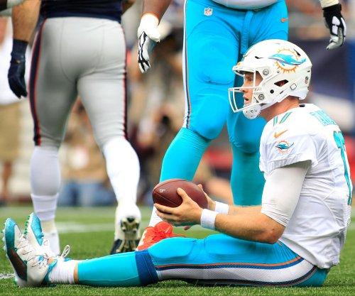 Miami Dolphins QB Ryan Tannehill (knee) misses practice
