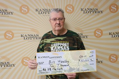 Kansas man wins two big lottery prizes in one month