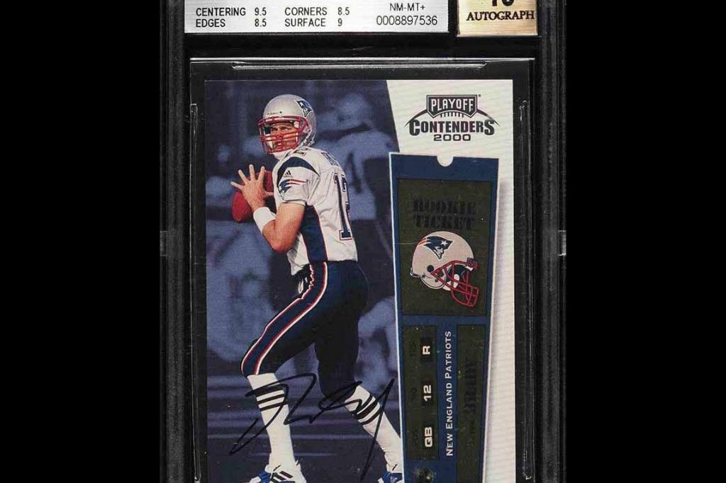 Tom Brady rookie card sells for record $400K in online