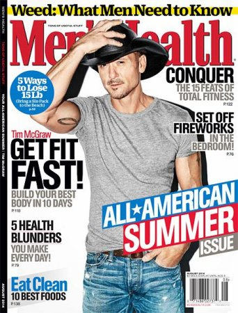 Tim McGraw shows off his eight-pack abs in Men's Health