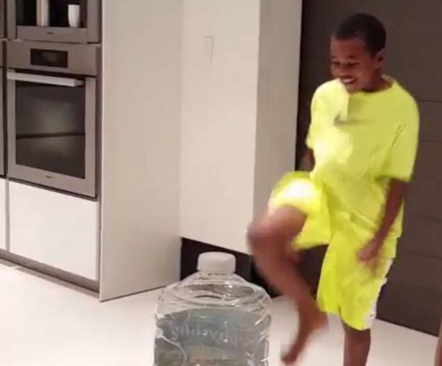 LeBron's son does spot-on imitation