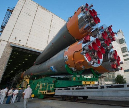 Images: Soyuz rocket rolled out and ready to launch