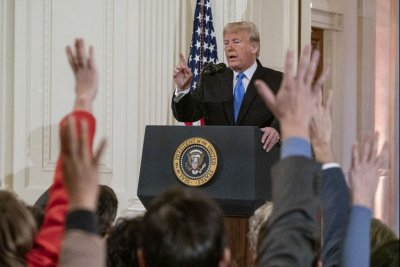 Trump hails GOP wins in spirited news conference; Pelosi promises 'oversight'