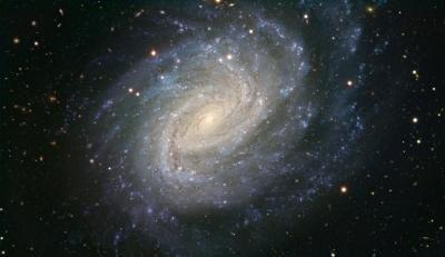 Distant galaxy scene of cosmic violence