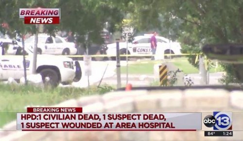 Two dead, six wounded, including two officers, in Houston shooting