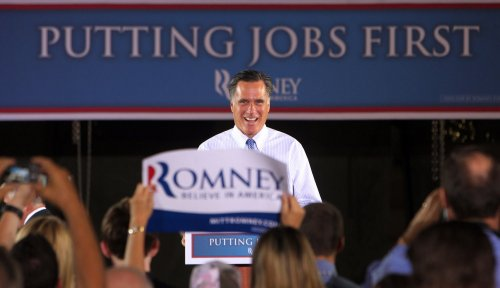 Romney: Obama's 'forward' slogan 'absurd'