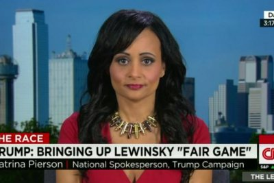 Trump spokeswoman: 'maybe I'll wear a fetus'