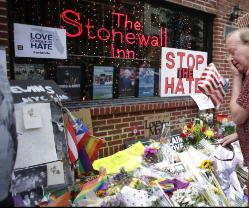 'We are Orlando': Hundreds gather at gay rights landmark Stonewall