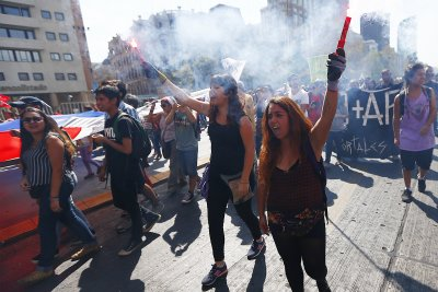 Thousands in Chile protest against private pension system