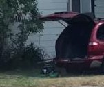 Ontario resident uses minivan to mow lawn