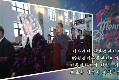 North Korea sends Christmas greeting in video