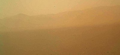 First Curiosity color photo unveiled