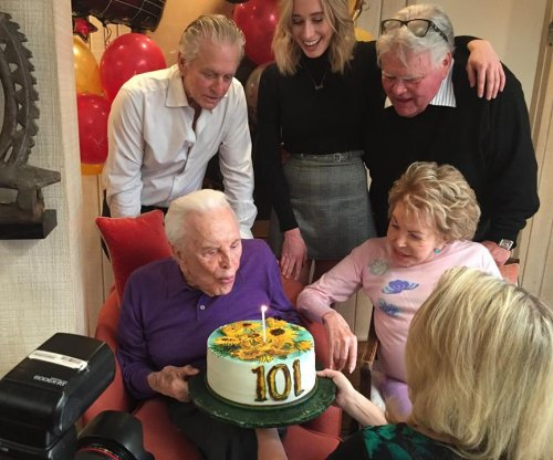 Kirk Douglas celebrates his 101st birthday with family