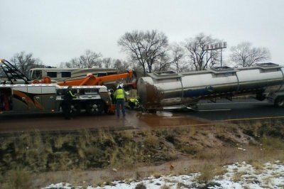 Tanker spills 'a river of chocolate' on I-40