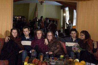 Families meet with hikers detained in Iran