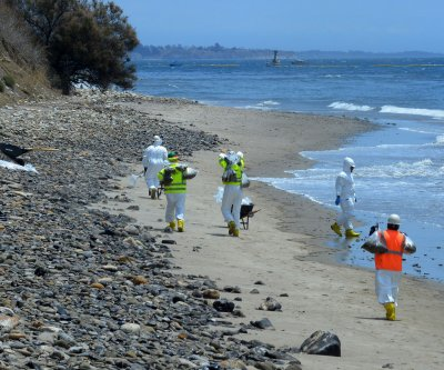 California shore mostly cleared of oil